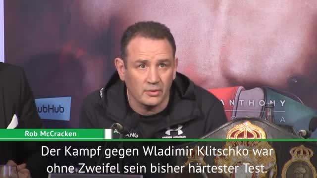 McCracken: Klitschko-Kampf war härter