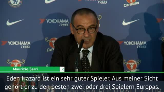 """Sarri: """"Möchte mit Hazard Spaß haben"""""""