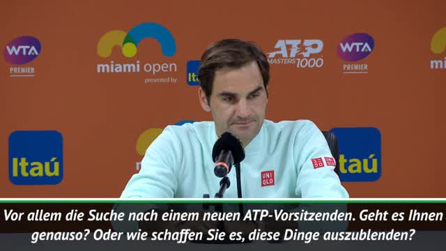 "Miami: Federer über Djokovic: ""Keine Ausrede"""