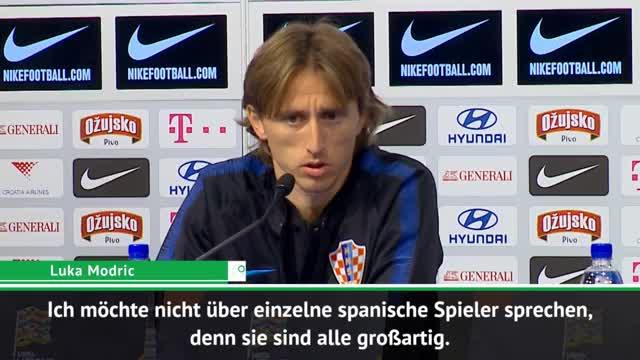 """Modric vor Spanien: """"Haben keine Angst"""""""