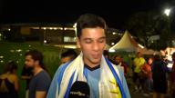 Chile- und Uruguay-Fans mit Kampfansagen