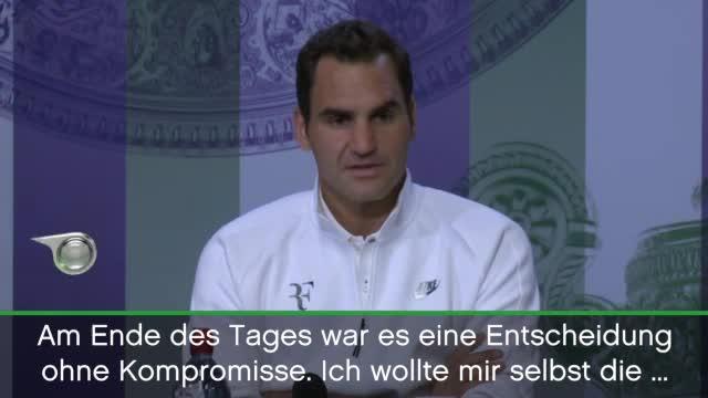 """Wimbledon: Federer: """"Ich bereue nichts"""""""