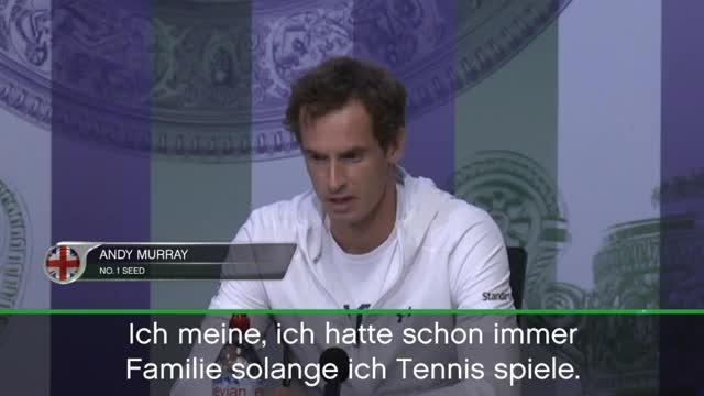 Wimbledon: Cooler Murray freut sich aufs Baby