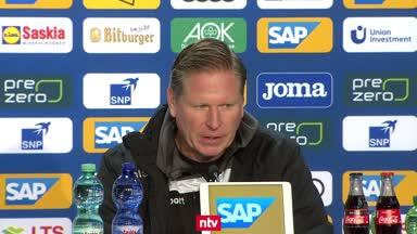 Gisdol hadert mit Pleite gegen Hoffenheim