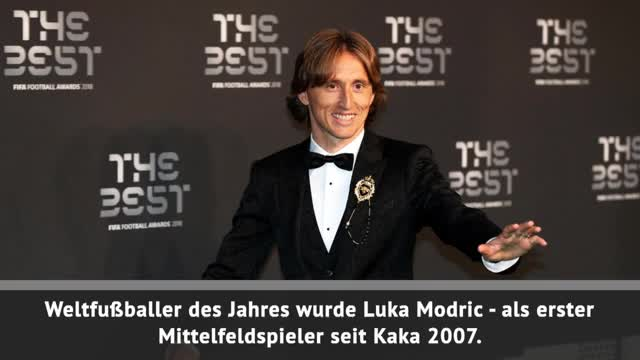 FIFA Best Awards: Modric ist Weltfußballer