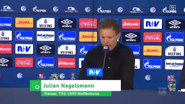 """Nagelsmann nach S04: """"Spiel war bisschen wild"""""""