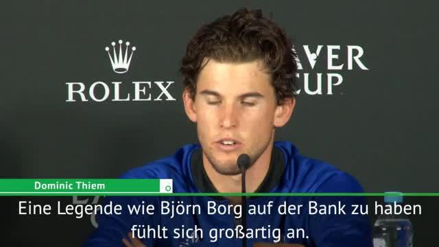 Laver Cup: Thiem zu Borg, Federer und Nadal