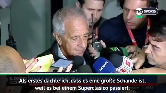 Copa Libertadores: River-Präsident enttäuscht