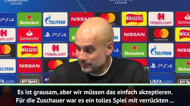 """Guardiola nach Drama-Aus: """"Es ist grausam"""""""