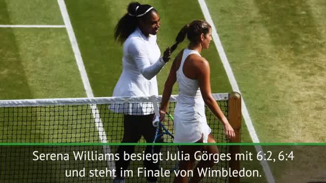 Görges ohne Chance gegen Williams