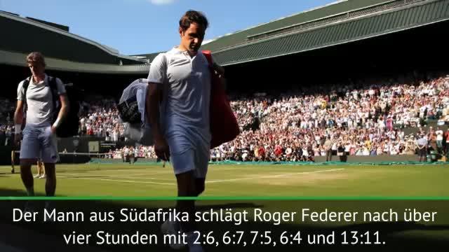 Wimbledon: Sensation! Anderson schlägt Federer