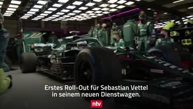 Die Bilder von Vettels erstem Roll-Out im Aston Martin