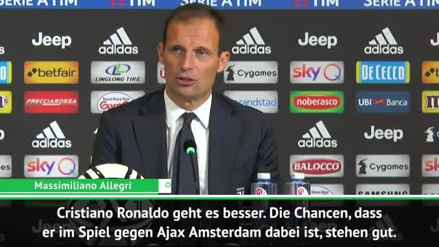 Mit Ronaldo nach Amsterdam? Das sagt Allegri