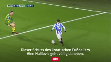 Ex-HSV-Star Halilovic mit kuriosem Fehlschuss