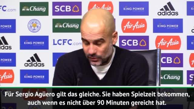 De Bruyne und Agüero zurück: Das sagt Guardiola