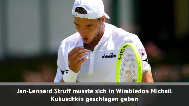 Wimbledon: Struff verpasst Achtelfinale knapp