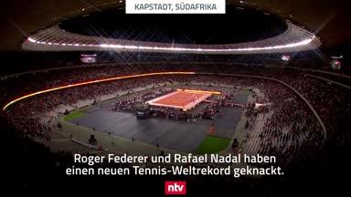 Tennis-Weltrekord in Kapstatt! 52.000 sehen Federer vs. Nadal