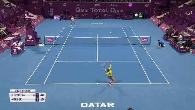 Doha: Kerber kämpft sich ins Halbfinale