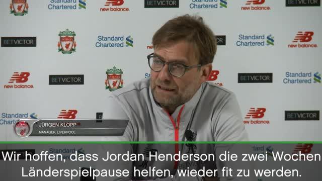 """Klopp: Henderson? """"Kann derzeit nicht laufen"""""""