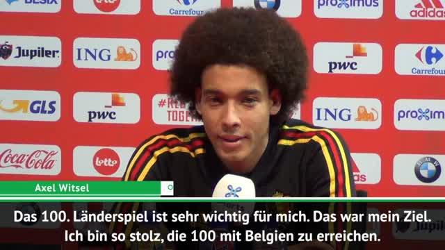 """Witsel stolz: 100. Länderspiel """"war mein Ziel"""""""