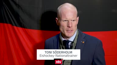 Eishockey-Bundestrainer Söderholm nach Auftaktsieg zufrieden