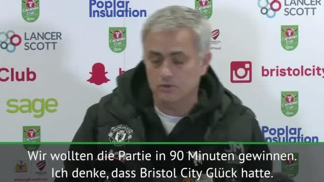 "League Cup: Mourinho: ""Gratuliere Bristol"""