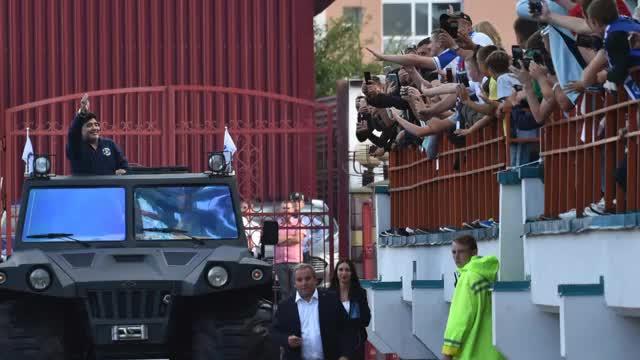 Maradonas verrückter Auftritt im Panzerwagen