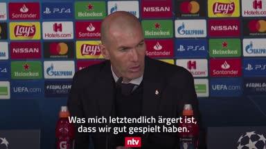 Stimmen zum Spiel: Zidane nach Pleite gegen ManCity sauer