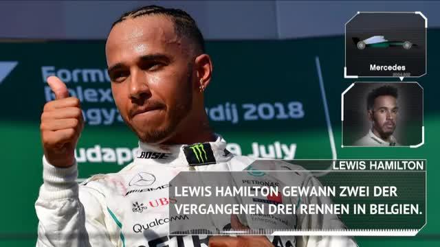 F1: Triumphiert Hamilton in Belgien erneut?