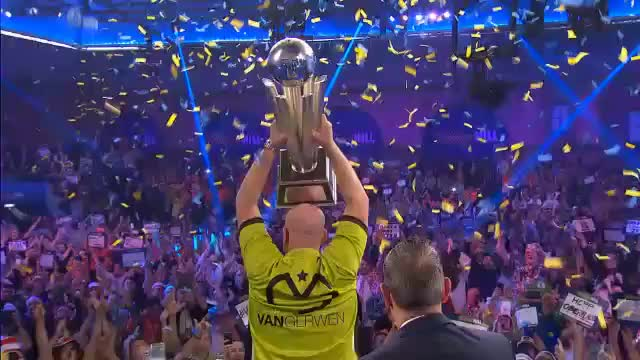 Flitzer inklusive: Van Gerwen holt WM-Titel
