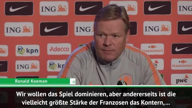 Bondscoach Koeman will Abstiegsendspiel vermeiden