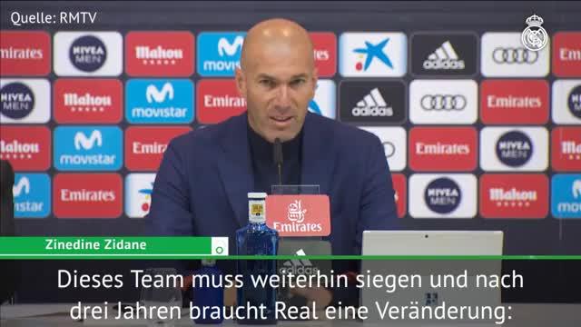 """Zidane zu Rücktritt: """"Real braucht Veränderung"""""""