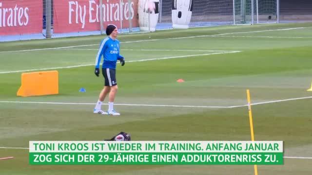 Kroos nach Adduktorenriss wieder im Training
