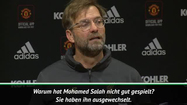 """Klopp nach United: Salah """"kann es besser"""""""