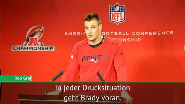 """Gronkwoski über Brady: """"Geht immer voran"""""""