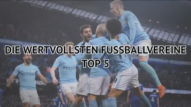 Die fünf wertvollsten Fußballvereine der Welt