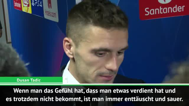 """Tadic niedergeschmettert: """"Traurig und schlimm"""""""