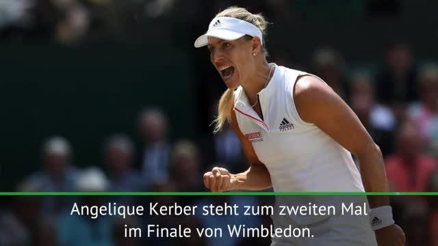 Wimbledon: Kerber marschiert souverän ins Finale
