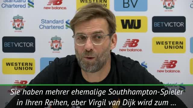 Klopp: Southampton? Kein warmer Empfang