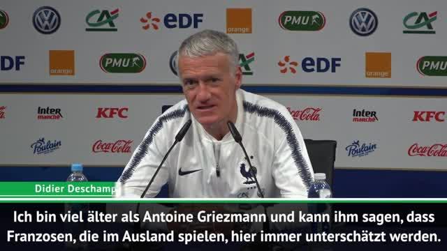 """Deschamps: """"Griezmann wird unterbewertet"""""""