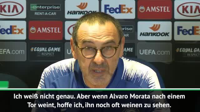 Sarri: Hoffe, Morata noch oft weinen zu sehen
