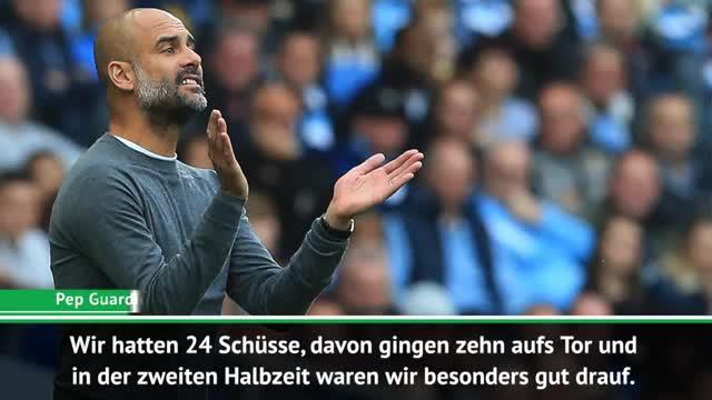 Guardiola lobt, Dyche kritisiert Sane scharf
