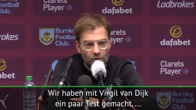 Klopp zuversichtlich: Van Dijk ist heiß