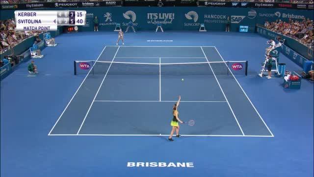 Aus in Brisbane! Kerber scheitert an Svitolina