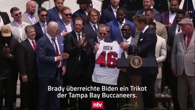 NFL-Star Brady scherzt mit US-Präsident Biden