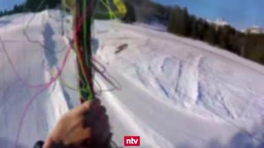 Adventskalender, 01.12.: Kuriose Panne beim Paragliden