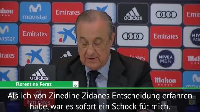 """Perez: Zidane-Rücktritt """"ein Schock für mich"""""""