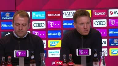 Hansi Flick und Julian Nagelsmann nach dem 0:0 im Spitzenspiel
