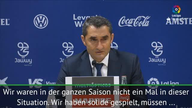 """Valverde: """"5 Gegentore nicht normal"""""""