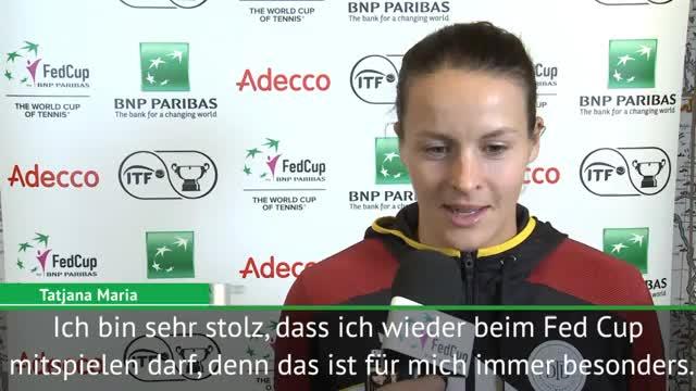 Fed Cup: Tatjana Maria fiebert Auftakt entgegen